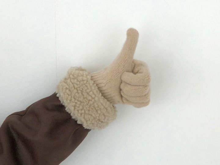 [re-order] Wool knit gloves (9 color), 울 90% 앙고라 10%