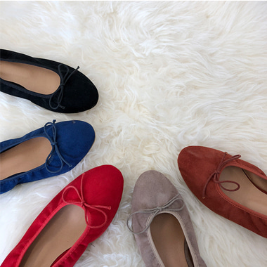 ribbon flat shoes (5 color)