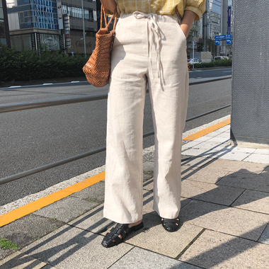 롤티 pants (2 color), 린넨 100%