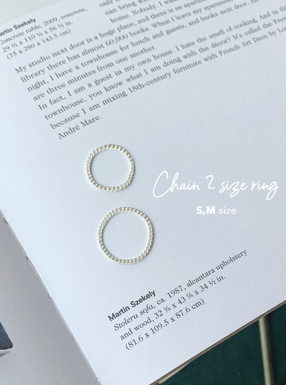 [9.25 silver] 앨리샤 ring (2 color)
